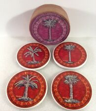 Palm Tree Coasters Set Of Four  Ceramic Kathleen Denis