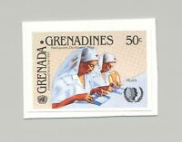 Grenada Grenadines #647 Youth Year UN Health Nurses 1v Imperf Proof on Card