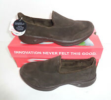 Skechers New Go Walk Ladies GOGA MAX™ Brown Slip On Trainers Shoes UK Sizes 3-6