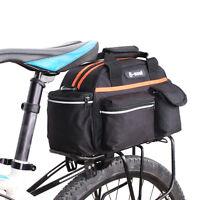 15L Cycling Bicycle Bike Rear Seat Rack Pack Storage Trunk Bag Handbag Pannier