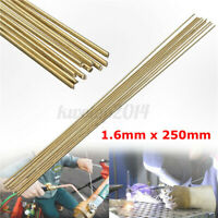 10PCS Wire Brazing Easy Melt Welding Rods Low Temperature 1.6mm x 250mm Brass