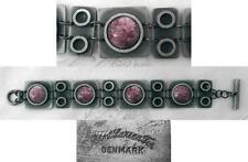 ALTER DESIGNER-ARMBAND - RHODONIT - ZINN - BENT LARSEN - 19 cm