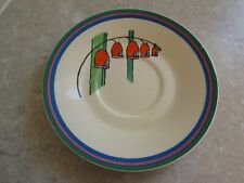 More details for art deco wilkinson pottery - clarice cliff  bizarre   saucer  c.1930