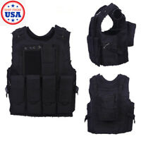 Military Tactical Vest Gun Holder Molle Airsoft Combat Assault Hunting Gear