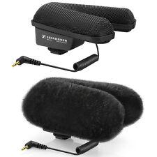 Sennheiser MKE 440 Compact Stereo Shotgun Microphone with MZH 440 Fur Windshield