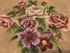 Vintage Needlepoint Preworked Tapestry Flowers Roses Coronet Tapestries