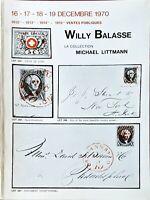 1970 Auction Catalogue Willy Balasse - La Collection Michael Littmann