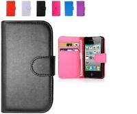 PU LEATHER WALLET FLIP CASE COVER FOR APPLE IPHONE 3G 3GS