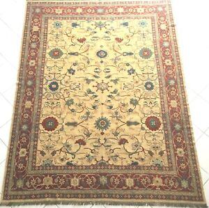 Afghan Teppich Ziegler Turkmen Sumach Kelim Handgewebt Gelb Oriental Rug Carpet