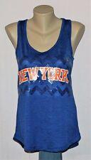 New York Knicks Womens Sequin Tank Top T-Shirt - NBA Majestic