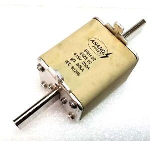 4 Pcs Lot ANAND BNH02 415V 250A gG 80kA Size 02 New HRC Fuse Link