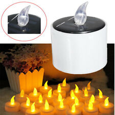Yellow Solar Power LED Candles Flameless Electronic Solar LED Tea Lights Lamp gt