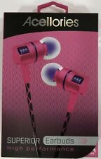 headphones earbuds womens pink high performance superior accelories new