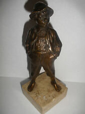 Antique  19/20thc young boy  brlonze sculpture