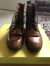 Tan Lace Up Booties Womens Size 7