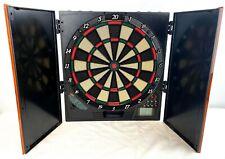 Halex Electronic Dart Board Cabinet Style Mountable Model 65011 Multiplayer