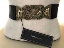 BCBG MAXAZRIA GOLD CHAIN ELASTIC FASHION BELT