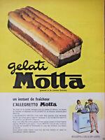 PUBLICITÉ DE PRESSE 1962 ALLEGRETTO GELATI MOTTA GLACES A LA CRÈME FRAICHE