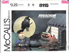 Hugachum Halloween Dolls Pumpkin Cat Devil Witch McCalls Sew Pattern 8115 Uncut