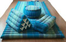 Thai Roll Up Mat Headest Pillow Bloster Yoga Meditation Zafu Cushion Kapok100%