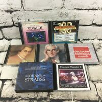 Classical Music CDs Lot Of 7 Mozart Vivaldi Johann Strauss Great Composers