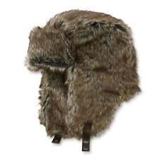 Dockers Trapper Winter Ear Flaps Hat Faux Fur Brown Aviator Bomber L/XL NEW