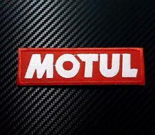 Embroidered Patch Iron Sew Logo MOTUL OIL RACING drag moto gp race bike car lube