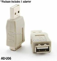 USB 2.0 Type A Male to A Female Port Over-Use Protector/Saver Adapter, AD-U06
