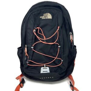 🔴 The North Face Jester II Hiking School Backpack Black Salmon