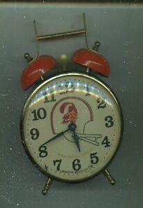 VINTAGE STEEL Tampa Bay Buccaneers 2 BELL  Clock Man Cave Game Room Garage Bucs