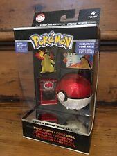 Pokemon Catch N Return Typhlosion Figure & Poke Ball TOMY Trainers Choice 2 NEW
