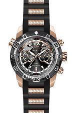 Invicta 24582 Men's Rose Gold Steel & Silicone Strap GMT Watch