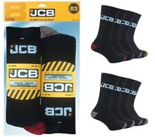 JCB Work Socks 8 Pack - Anti Shock & Reinforced Heel and Toe - Size 6-11 UK