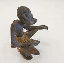 Man Figurine Vintage Carved Hand Primitive Wood Old Figure Antique Statues Decor