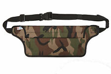 Aqua Quest Aqua Roo 100% Waterproof Money Belt, Waist Bag, Travel Bumbag - Camo