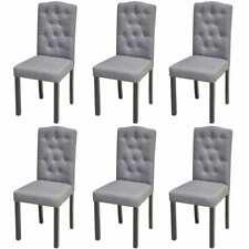 Esszimmerstühle 6er Set Küchenstühle Wohnzimmerstuhl Stuhl Dunkelgrau