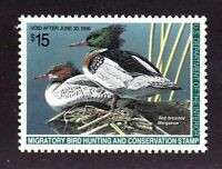 United States Duck Stamp #RW 61, MNH OG, XFS