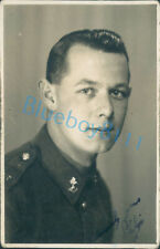 WW2 Royal Engineers Serviceman Soldier Studio shot signed unposted