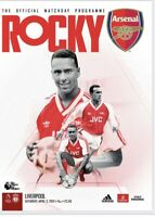 Arsenal v Liverpool Premier League 03-4-21 - Electronic Programme RARE