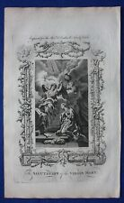 Original antique print SALUTATION OF THE VIRGIN MARY, Southwell's Bible, 1774