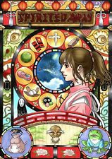 "Spirited Away Art Nouveau Anime Poster Awesome! 12""x16"" Mint Condition"