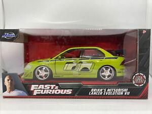 Jada Fast & Furious Brians Mitsubishi Lancer Evolution 7 VII 1:24 Scale Die-Cast