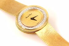Genuine Bueche Girod Ladies 18k Solid Yellow Gold & Diamond Watch, 74.7 g, 6.75""