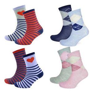 4 Pairs Ladies Womens Socks Argyle Heart Design Soft Ankle Sock Adults Uk 4-7