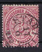 """Norddeutscher Bund 3 Kr. Südl. Bez.1869 - selten! """"Stadtilm"""" TUT-NV 1 1/2 Kr o"""