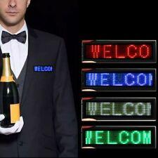 Mini Led Digital Programmable Scrolling Name Message Tag Badge Sign 4 Color Us