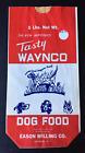 "1960's WAYNCO Red/White Vintage Dog Food Bag ""New Old Stock"""