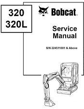 Bobcat X 320 320L 322 Excavator G D Serries 5x Service Manuals On One CD