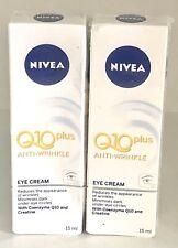 2XNivea Q10 Plus Anti Wrinkle Eye Cream 2X15ml