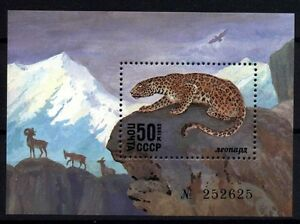 9707 RUSSIA 1985 PROTECTED ANIMALS S/S MNH